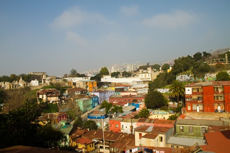 Streets in  Concepcion and Alegre districts of the protected UNESCO World Heritage Site of Valparaiso on June 9, 2013 in Valparaiso, Chile