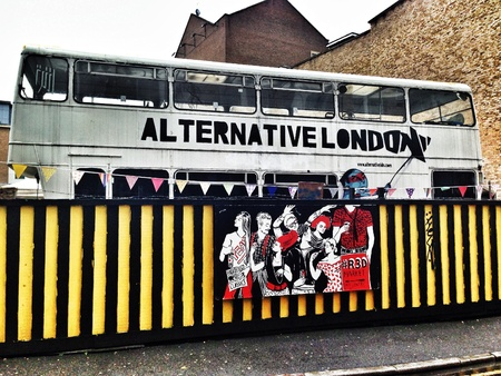Alternative London market in Shoreditch  London Aug 2013