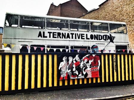 Alternative London market in Shoreditch  London Aug 2013