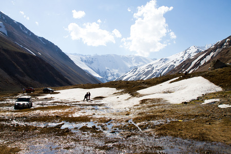 Cajon del Maipo canyon and Embalse El Yeso, Andes, Chile photo
