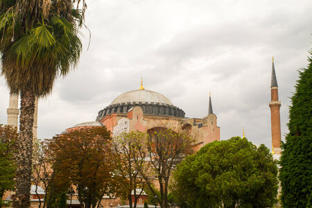 patriarchal: ISTANBUL, TURKEY - SEPTEMBER 23: Hagia Sophia former Greek Orthodox patriarchal basilica (church), later an imperial mosque, and now a museum (Ayasofya M?zesi) on September 23, 2014 in Istanbul, Turkey