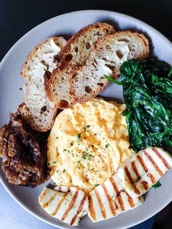Scrambled eggs brunch Stock Photo photo