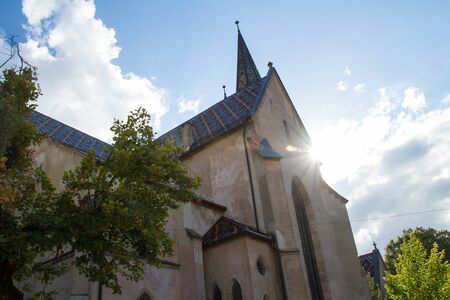 evangelical: SIBIU - SEPTEMBER 09: Evangelical Cathedral in the center of Sibiu, city designated the European Capital of Culture for the year 2007. Sibiu, Romania on 09 September 2015 Editorial