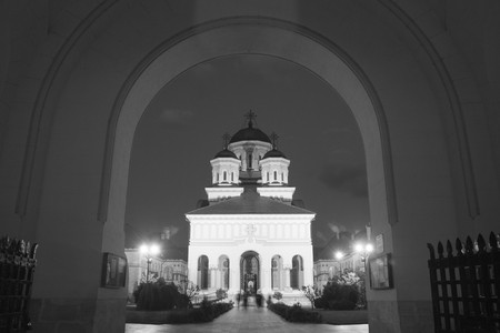 2nd century: ALBA IULIA - SEPTEMBER 09: Church in the fortress Alba Carolina, designed by architect Giovanni Morando Visconti, at the behest of Emperor Charles VI of Habsburg on the site of the ancient Apulum, founded by the Romans in the 2nd century A.D., and the sit