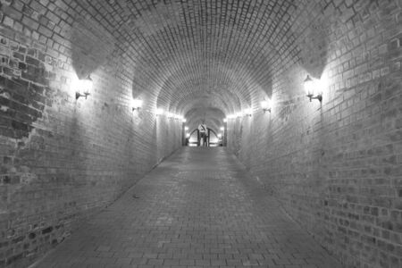 habsburg: ALBA IULIA - SEPTEMBER 09: Underground passage in the fortress Alba Carolina, designed by architect Giovanni Morando Visconti, at the behest of Emperor Charles VI of Habsburg on the site of the ancient Apulum, founded by the Romans in the 2nd century A.D.