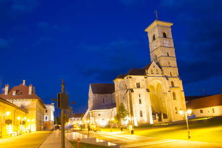 2nd century: ALBA IULIA - SEPTEMBER 09: The fortress Alba Carolina, designed by architect Giovanni Morando Visconti, at the behest of Emperor Charles VI of Habsburg on the site of the ancient Apulum, founded by the Romans in the 2nd century A.D., and the site of the p