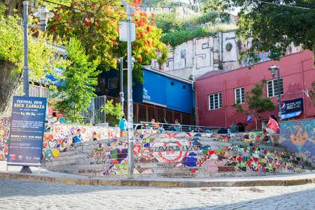 valparaiso: VALPARAISO - NOVEMBER 07: Street art in Concepcion and Alegre districts of the protectedValparaiso on November 7, 2015 in Valparaiso, Chile