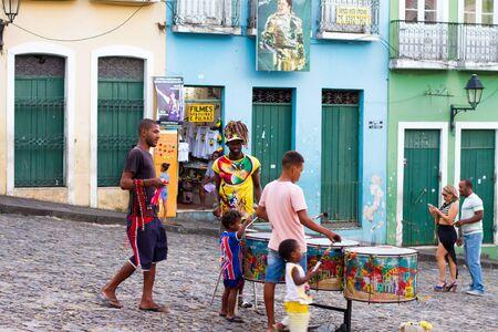 slaves: SALVADOR, BAHIA - JUNE 22: Sunset view from Pelourinho district of Salvador de Bahia, Brazil on June 22, 2016