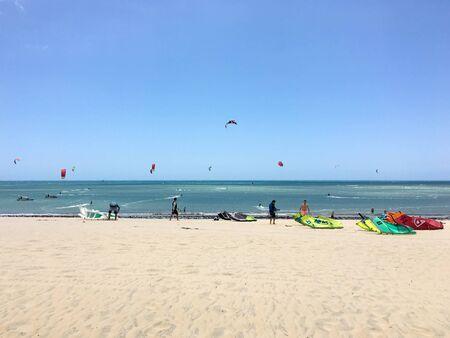Kitesurfing in North of Brazil