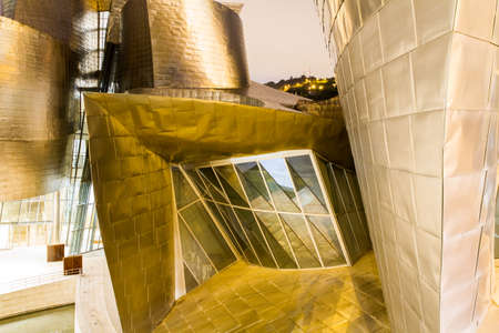 basque country: BILBAO - JULY 21: Exterior view of the The Guggenheim Museum Bilbao, museum of modern and contemporary art designed by Canadian-American architect Frank Gehry, in Bilbao, Basque Country, Bizkaia, Spain on July 21st, 2017