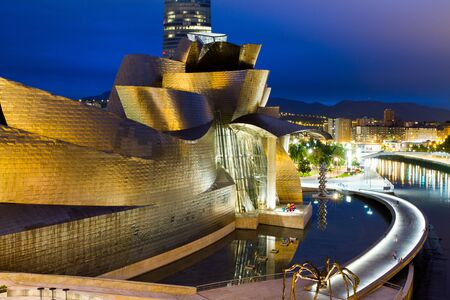 BILBAO - JULY 21: Exterior view of the The Guggenheim Museum Bilbao, museum of modern and contemporary art designed by Canadian-American architect Frank Gehry, in Bilbao, Basque Country, Bizkaia, Spain on July 21st, 2017