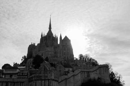 Le Mont-Saint-Michel, off the countrys northwestern coast, at the mouth of the Couesnon River near Avranches in Normandy, France