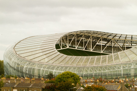 The Aviva Stadium Dublin, with a capacity of 51,700 seats and built on the site of the former Lansdowne Road stadium.