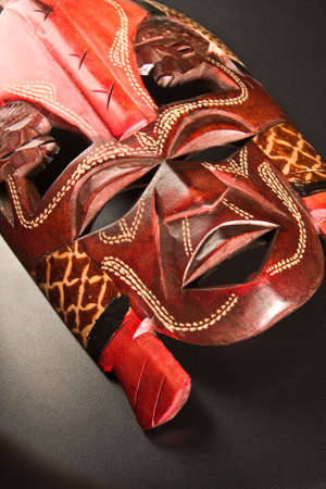 mask for ceremonies on a gray background Stock Photo - 3224978
