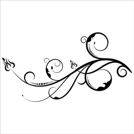 Conception d'éléments floraux, bordure d'élément graphique ornemental de luxe, fleurs de tourbillons, conception décorative de tourbillon de feuillage pour les cartes de décoration de page, mariage, bannière, logos, cadres, étiquettes, cafés, boutiques