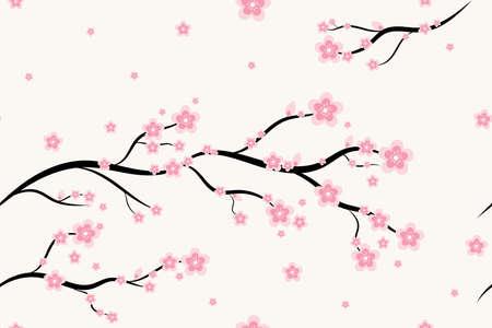 Seamless floral sakura pattern background