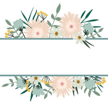 vintage: Floral frame bouquet vintage cover. Flourish card