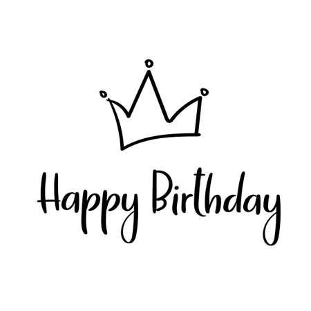 Happy birthday to you calligraphy greeting card handwritten happy birthday handwritten inscription for greeting card invitation poster vector vector bookmarktalkfo Choice Image