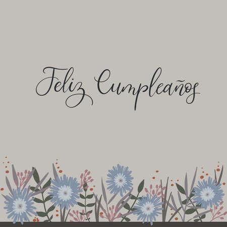 Cumpleanos Van Feliz Gelukkige Verjaardag In Het Spaans Kaart