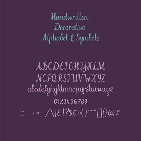 old english: Calligraphic alphabet. Handwritten brush font. Uppercase, lowercase, ampersand. Wedding calligraphy