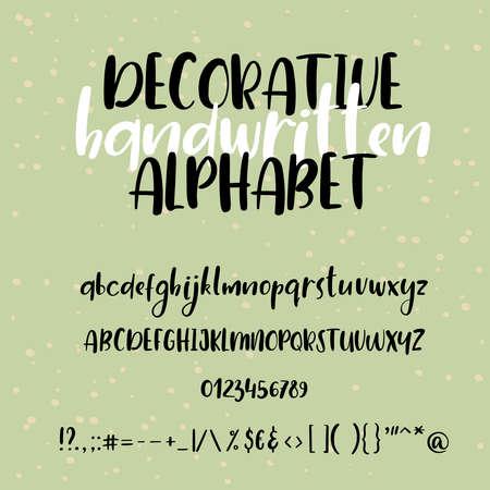 english letters: Modern calligraphy alphabet illustration. Illustration