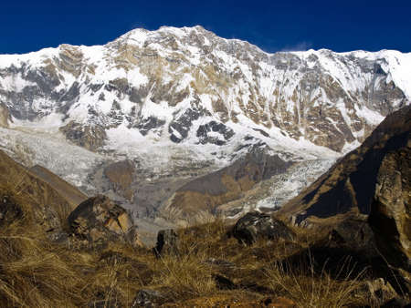 South Face of Mount Annapurna I  The view from the opposite side of the glacial cirque
