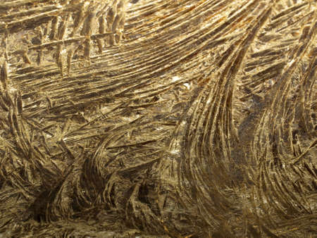 surface of the wall in the cave of crystals of gypsum Stock Photo