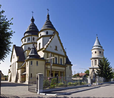 Christ the King Church with a belfry Ukraine Ivano-Frankivsk city