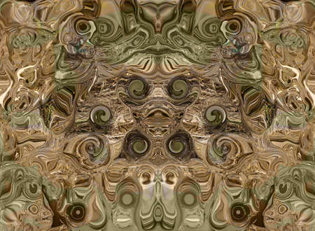 abstract background with the eyes of the waves. In the green-brown color gamut
