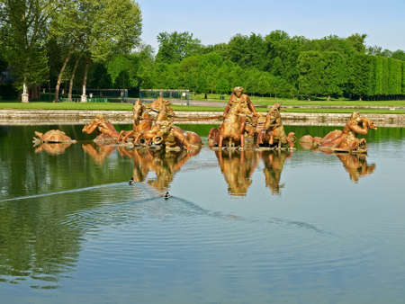 Fountain of Apollo - one of the most famous wonders of Versailles, France Stock Photo - 18207762