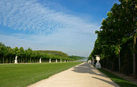 Versailles, France  Main avenue of the park in the direction of the fountain of Apollo and the Grand Canal Stock Photo - 18207748