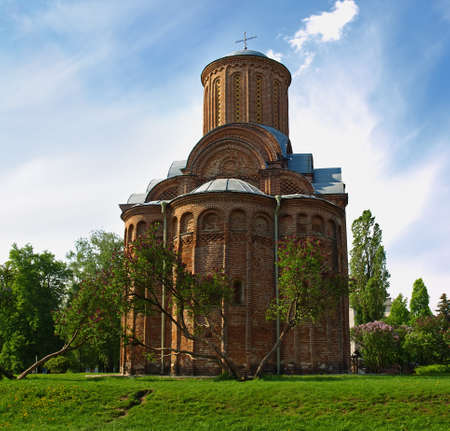 authenticity: Pyatnytska church is a functioning church in Chernigiv, Ukraine. It was built at 12th century. Reproduce with great authenticity.  Stock Photo
