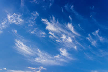cirrus clouds: Blue sky with cirrus clouds Stock Photo