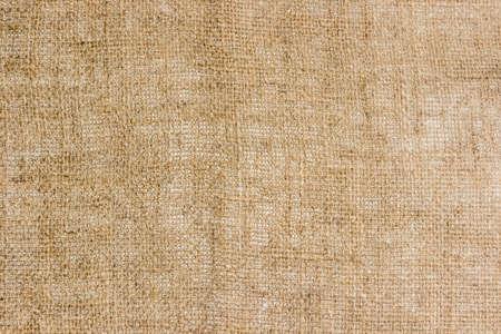 Burlap from coarse unpainted spinning fibers from hemp. Texture.