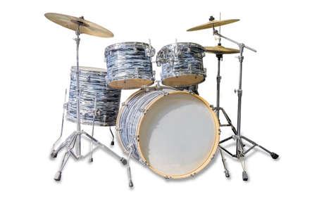 drum kit: Drum kit on a light background. Isolation. Stock Photo