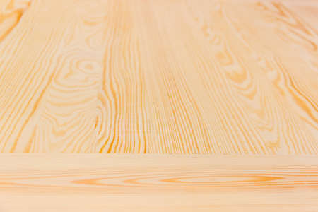 obtained: Surface from bright wooden planks from pine, obtained by flat sawing. Texture. Stock Photo