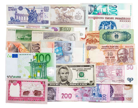earlier: Banknotes of different countries that are in circulation now, and those that were earlier in circulation