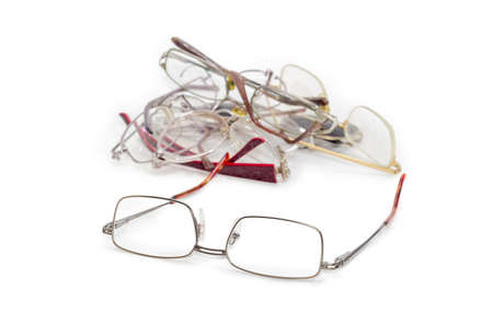 Modern classic mens eyeglasses against of old glasses