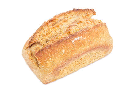 Whole loaf of the wheat sourdough bread on a white background Stock Photo