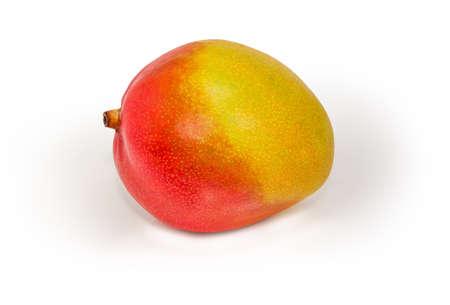 Whole ripe mango fruit on a white background