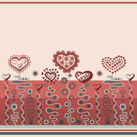 Decorative color background with hearts