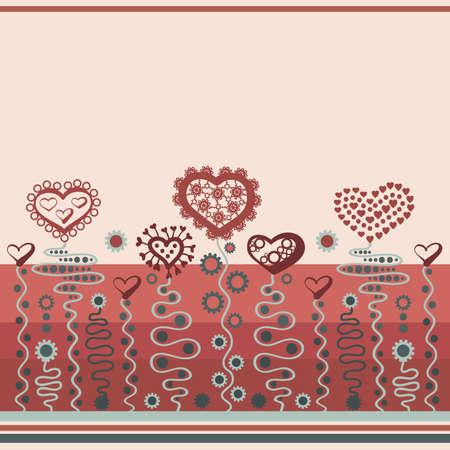 Fondo de color decorativos con corazones