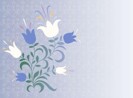 Elegant color decorative flower background