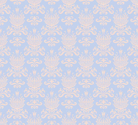 Floral seamless pattern in two colors