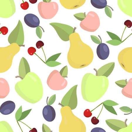 Fondo transparente de fruta en colores brillantes Vectores
