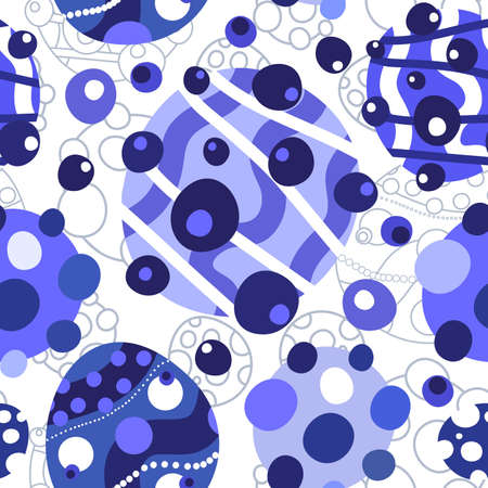 Blue and white abstract seamless background
