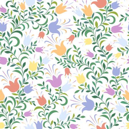 Colore sfondo senza soluzione di continuit� con i fiori Vettoriali