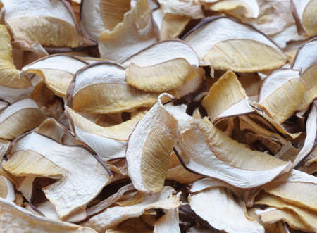 Background of flavored dried mushrooms