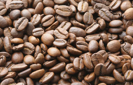 Background of brown coffee beans Stock Photo