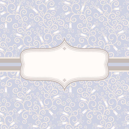 Floral vintage background in pastel colors